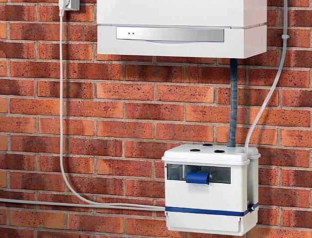 Rys 3. Pompa Sanicondens Best jest wyposażona w system neutralizujący kwasowy odczyn skroplin