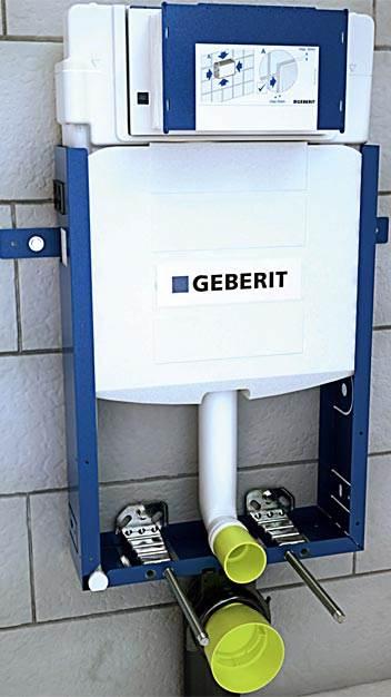 fot. 12 Poprawnie zamontowany stelaż pod WC