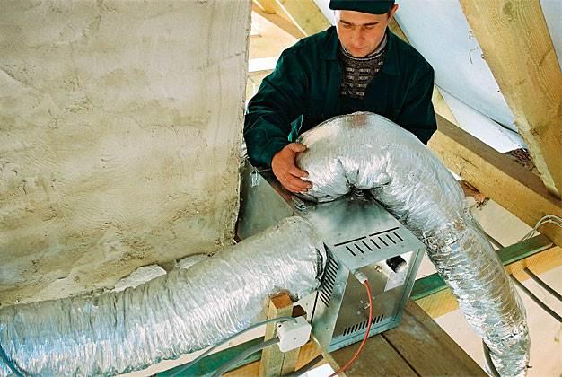 system dystrybucji goracego powietrza ogrzewanie kominkowe 5 - System dystrybucji gorącego powietrza - ogrzewanie kominkowe
