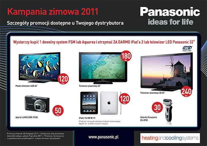 nowa promocja panasonic roz - Nowa promocja Panasonic rozgrzeje instalatorów