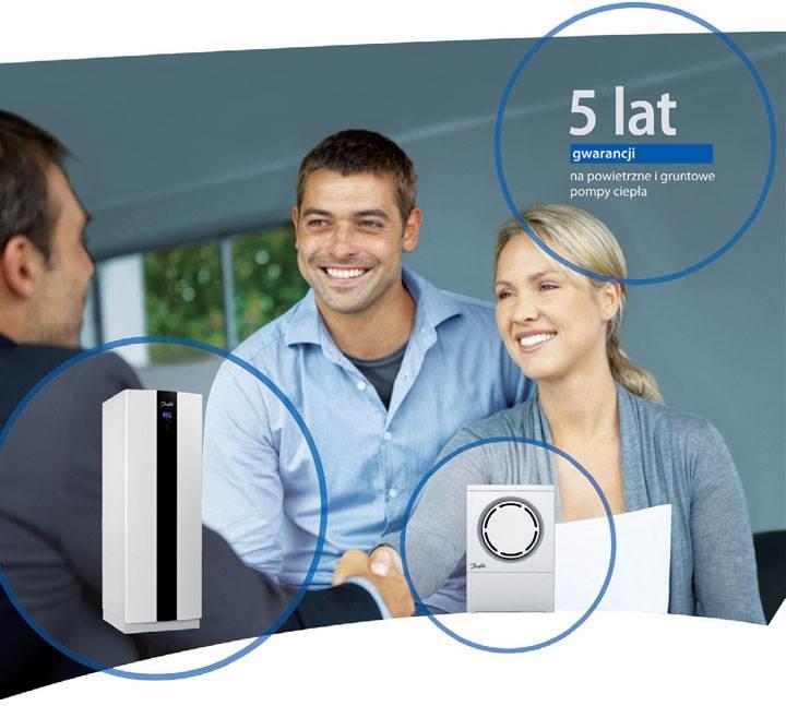 5 lat gwarancji na powietrz - 5 lat gwarancji na powietrzne i gruntowe pompy ciepła Danfoss!