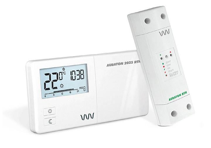 Fot. 1. Bezprzewodowy regulator temperatury AURATON 2025 RTH.