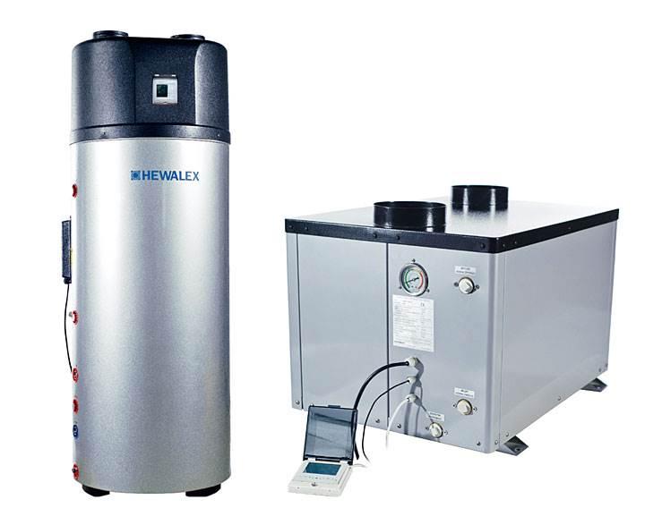 Fot. 2. Podgrzewacz z pompą ciepła PWPC-3,8H-A 2-W300 został zaprojektowany tak, aby zaspokoić zapotrzebowanie na ciepłą wodę dla 2-5 osób. Stanowi on rozwiązanie, w którym powietrzna pompa ciepła PCWU-3,8H-A3 została zintegrowana ze zbiornikiem ciepłej wody. Zaletą podgrzewacza z pompą ciepła jest możliwość jego wykorzystania z dużą efektywnością również w dni pochmurne oraz nocą