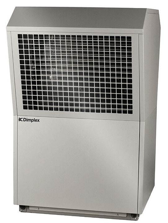 Fot. 6. Dimplex LA 11TAS – pompa ciepła powietrze / woda do instalacji zewnętrznej, w zakresie dostawy kompletna automatyka do instalacji wewnętrznej WPM 2006 Plus,. Moc grzewcza [kW] 8,6 kW. Temp. zasilania [°C] 58, COP (A2/W35) 3,4. Uniwersalna pompa ciepła, możliwość przygotowania ciepłej wody użytkowej, ogrzewanie basenu i wszechstronnymi możliwościami rozszerzenia dla przyłączenia dodatkowych źródeł ciepła.