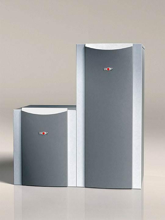Fot. 9. Wszystkie pompy ciepła nowej generacji firmy Wolf bazują na innowacyjnej koncepcji konstrukcji urządzeń. Stosowane są wyłącznie elementy charakteryzujące się najwyższą sprawnością energetyczną, jak na przykład wysokosprawne pompy obiegu solankowego oraz pompy obiegu grzewczego (klasa efektywności energetycznej A).