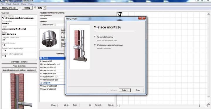 program mking - Program MKing: wycena systemu kominowego staje się prostsza