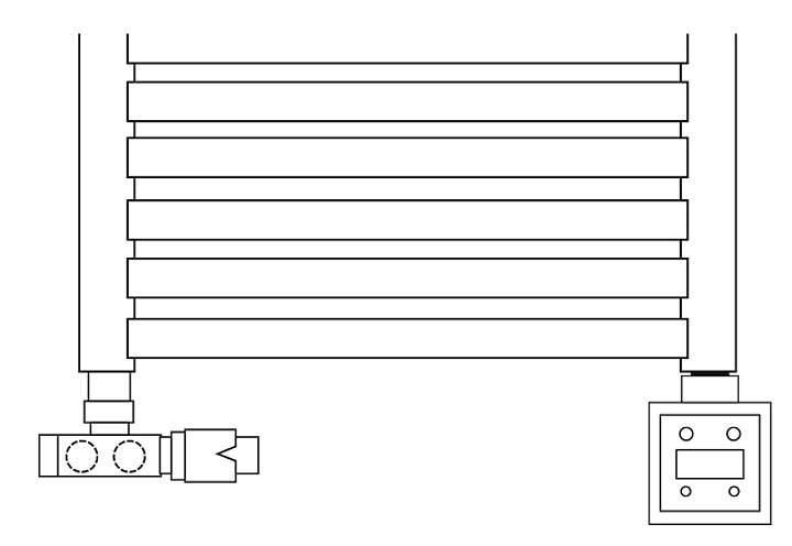 Rys. 4. Prawidłowe podłączenie grzałki - bezpośrednio do króćca.