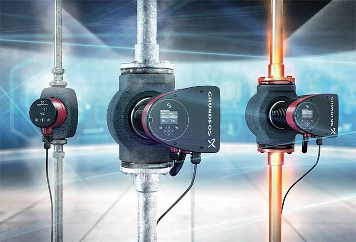 Fot. 1. Najnowsze konstrukcje pomp obiegowych umożliwiające płynną regulację obrotów i dostosowanie parametrów pompy do warunków w instalacji pozwalają na optymalizację pracy zarówno pompy jak i instalacji.