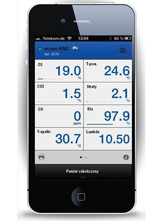Fot. 5. Jaka jest wartość pomiarów? Sprawdzimy to na smartphonie. Sygnał wysyłany jest przez Bluetooth lub podczerwień.
