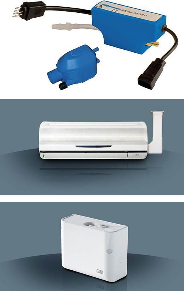 FOT. 5. Urządzenia Sanicondens CLIM - od góry: Mini, Pack i Deco