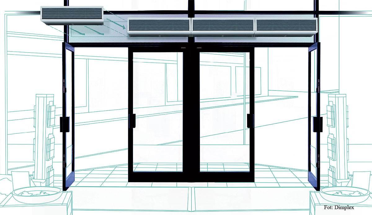 FOT. 6. Dzięki modułowej konstrukcji kurtyny powietrzne można łączyć w zespoły o dowolnej długości.