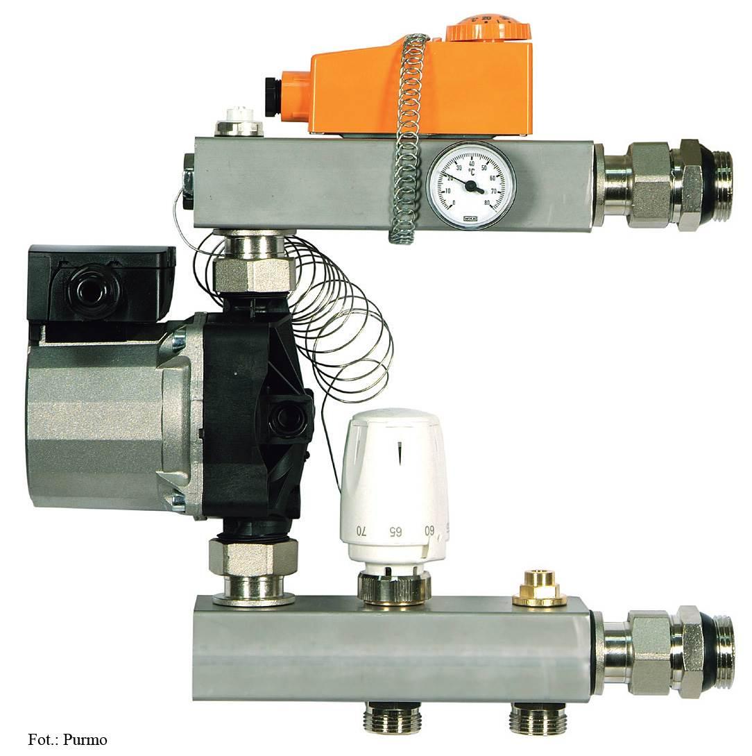 FOT. 3. Przy wyborze układu mieszającego warto zwrócić uwagę na to dla jakich parametrów pracy (temperatur) obiegu pierwotnego (instalacji grzejnikowej) jest dedykowany dany układ mieszający.
