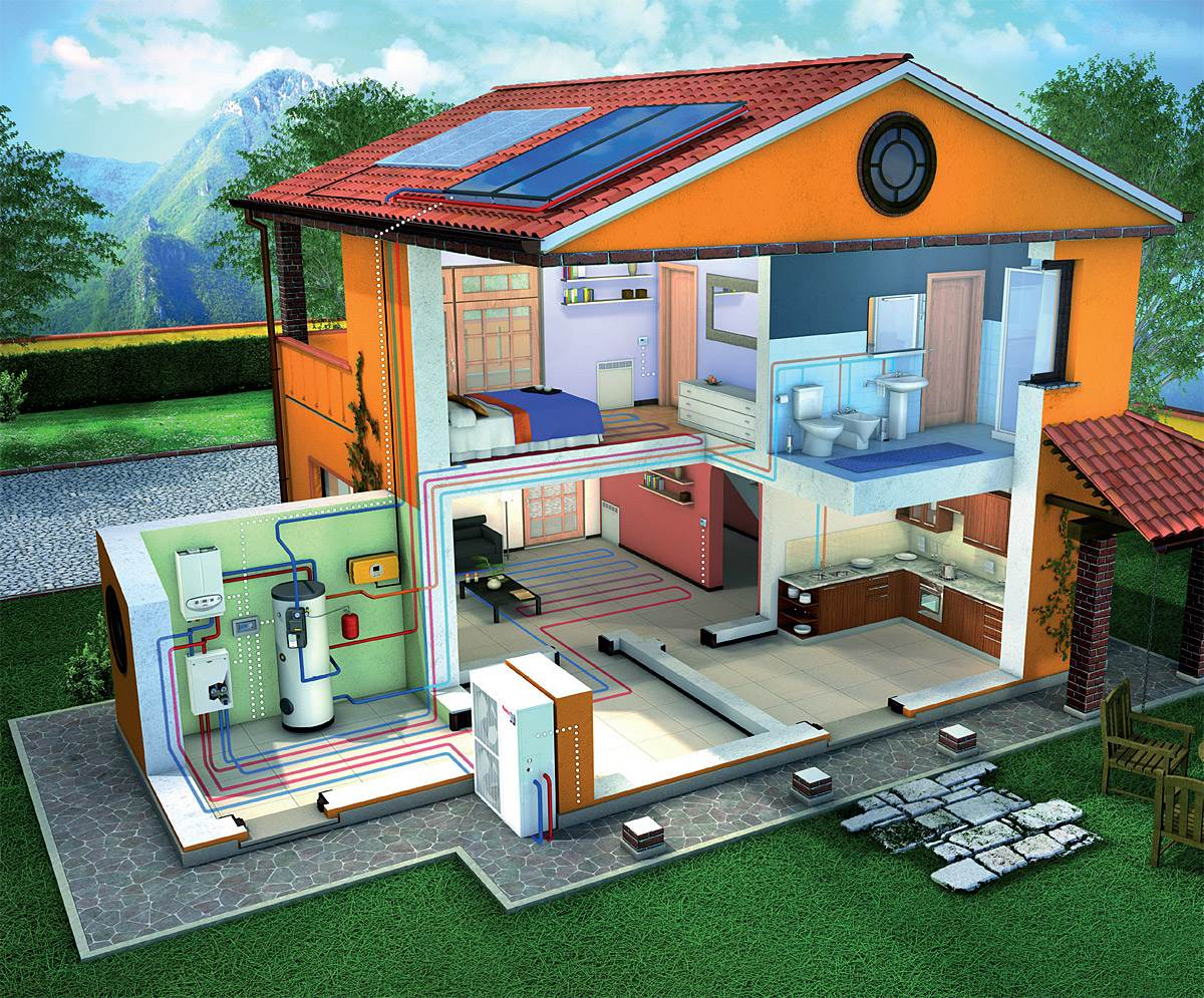 FOT. 1. Dzięki wbudowanej dodatkowej wężownicy powietrzne pompy ciepła do c.w.u. mogą współpracować z dodatkowym źródłem ciepła, w tym też z kolektorami słonecznymi. Fot. Immergas
