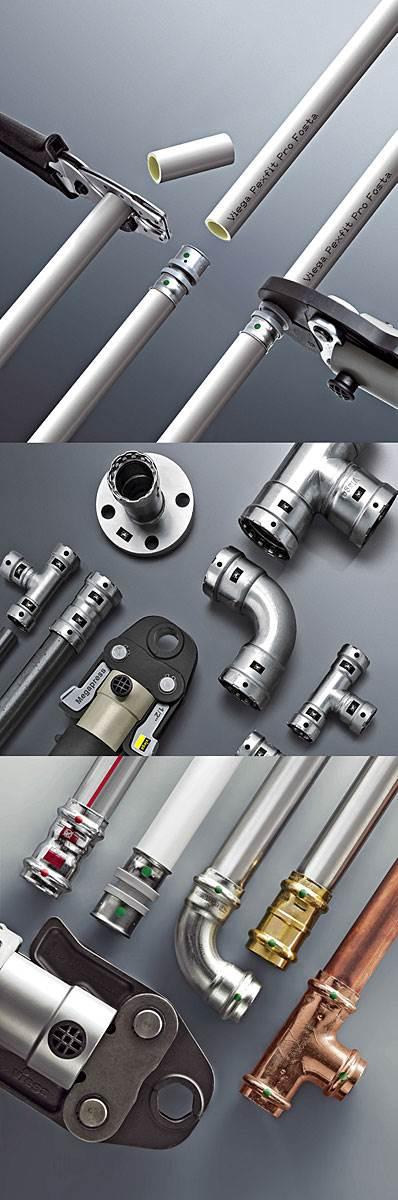 Fot. 1. Producenci oferują systemy do danego rodzaju instalacji oraz uniwersalne o szerokim spektrum zastosowania. Fot. Viega