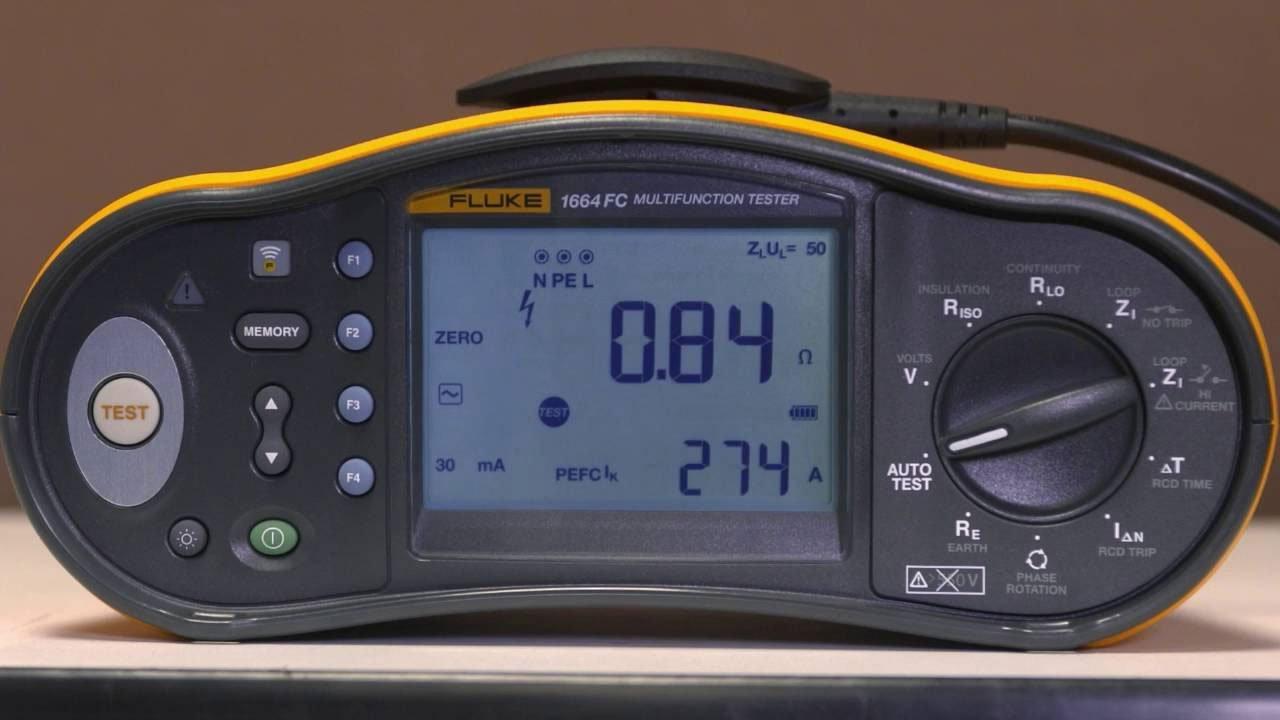 Wielofunkcyjny tester instalacji Fluke 1664FC