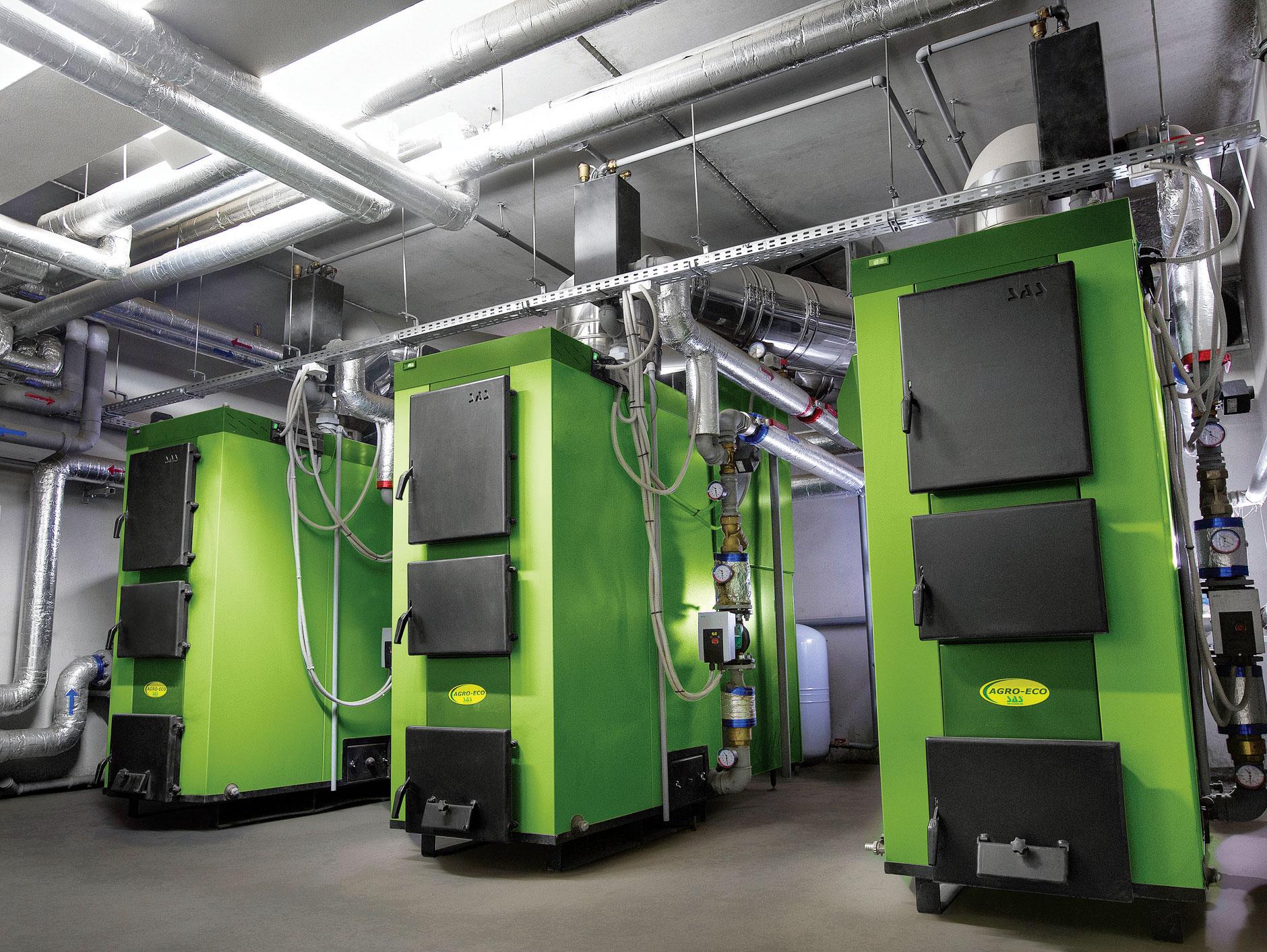 Fot. 3. Kotły pelletowe są coraz częściej wykorzystane w dużych obiektach, np. domach wielorodzinnych czy biurowcach. Fot. SAS