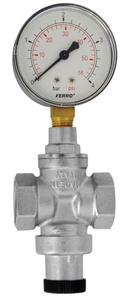 Fot. 2. Typowy reduktor ciśnienia ma przyłącze do przykręcenia manometru znajdujące się po obu końcach korpusu. Fot. FERRO