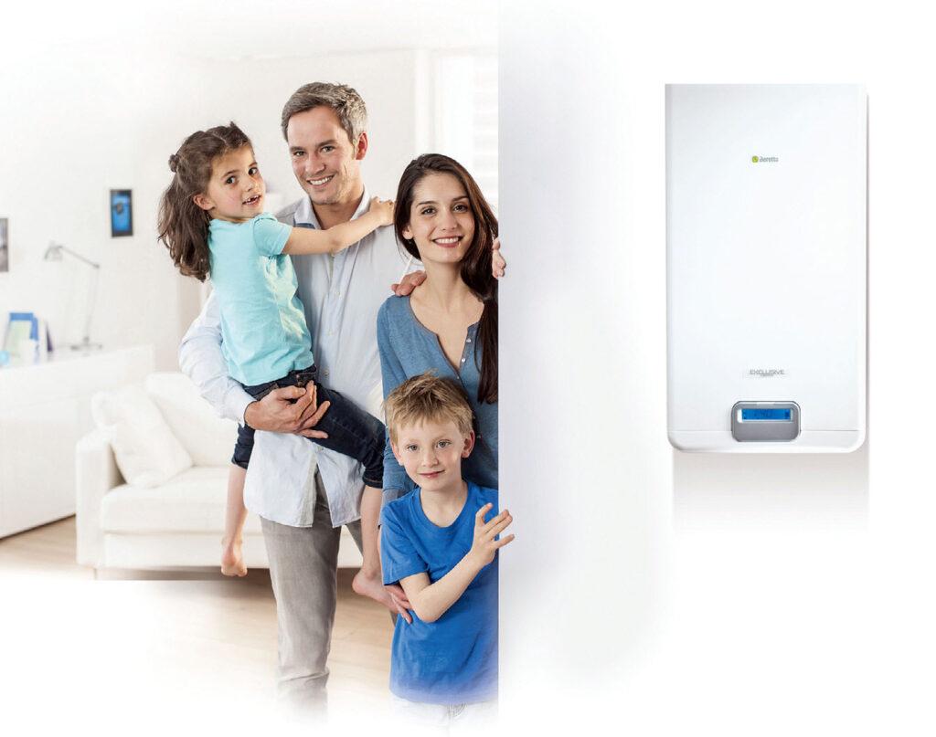 Fot. 2. Dobierając moc kotła, w obecnie budowanych domach, możemy orientacyjnie przyjąć, że 1 kW mocy kotła wystarczy na 10-15m2 ogrzewanej powierzchni. Fot. BERETTA