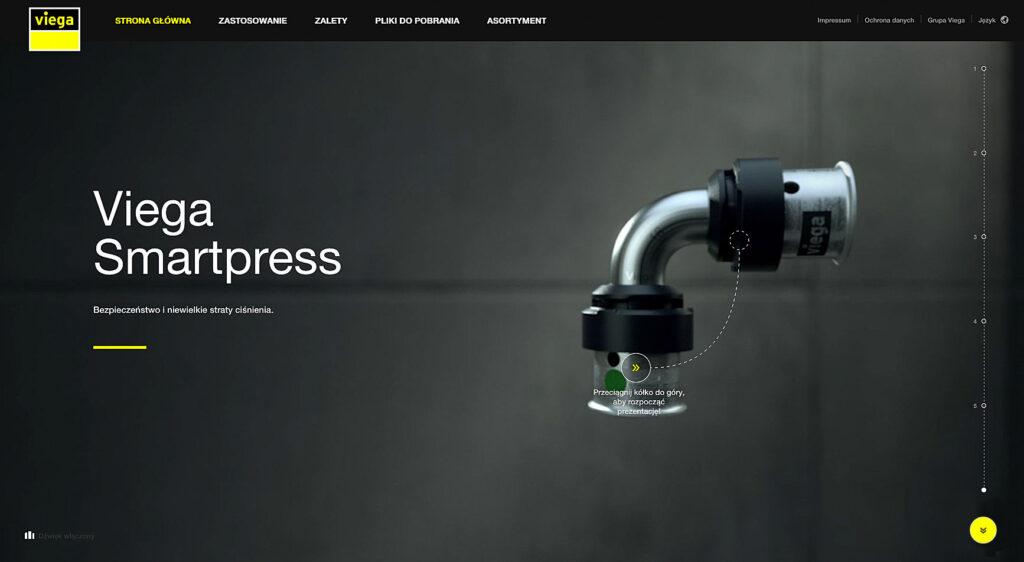 Firma Viega uruchomiła specjalną mikrostronę z multimedialną prezentacją, która w przejrzysty sposób tłumaczy wszystkie zalety produktu.