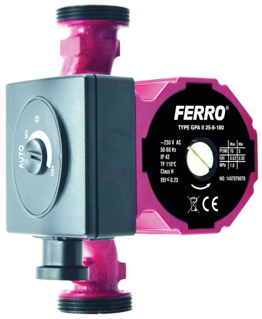 Fot. 2. Nowoczesna pompa cyrkulacyjna dostosowuje swoją wydajność, moment obrotowy oraz zużycie energii w taki sposób, aby optymalnie zapewnić poprawną pracę układu. Fot. FERRO