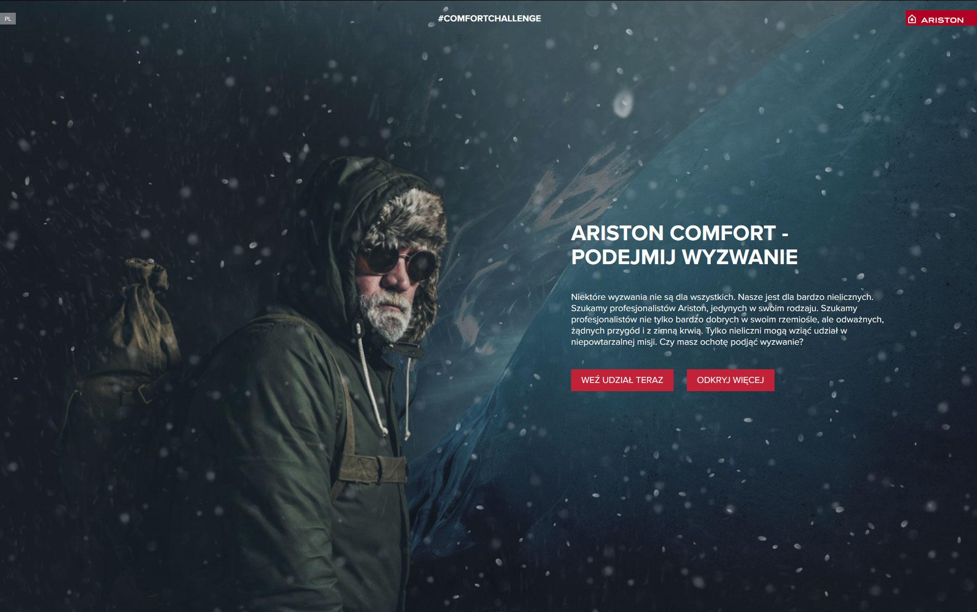 ariston comfort podejmij wyzwanie i sprawdz jak wyglada misja w warunkach ekstremalnych - Ostatnie dni rekrutacji - Ariston Comfort – podejmij wyzwanie