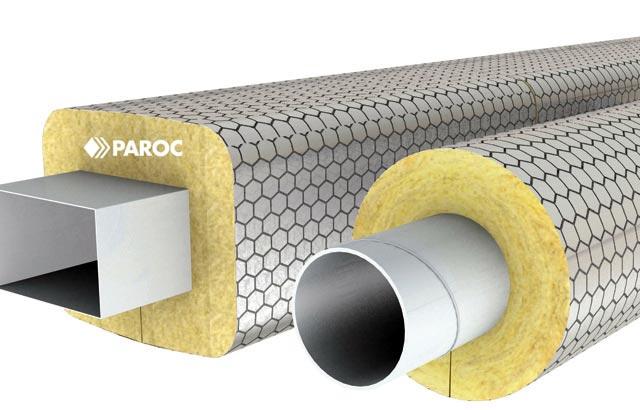 Fot. 8. Izolacja z zastosowaniem mat na siatce z serii PAROC Pro Wired Mat. Izolacja kanałów wentylacyjnych. Fot. PAROC