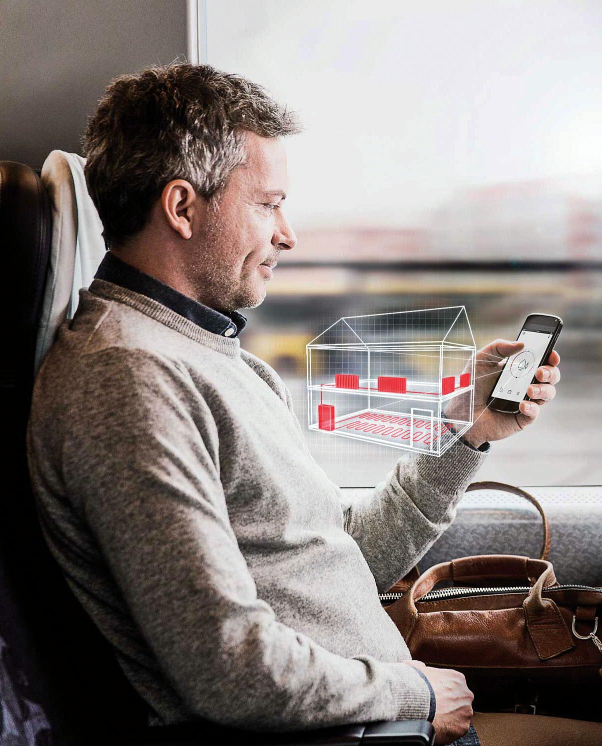 Fot. 1. Aplikacja Danfoss Link™ App pozwala na łatwe sterowanie ogrzewaniem za pomocą telefonu komórkowego – zawsze i wszędzie. Fot. DANFOSS