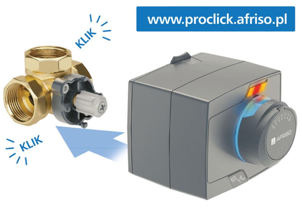 Fot. 4. Montaż siłownika ARM ProClick na zaworze ARV ProClick. Obrotowe zawory mieszające.