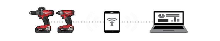 Produkt z umieszczonym trackerem jest kompatybilny z aplikacją ONE-KEY™. Pełna kontrola profesjonalnego sprzętu