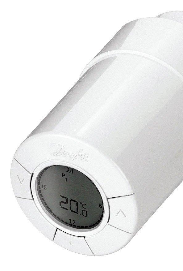 Fot. 3. Głowica termostatyczna z wyświetlaczem. Termostatyczne zawory grzejnikowe. Fot. DANFOSS