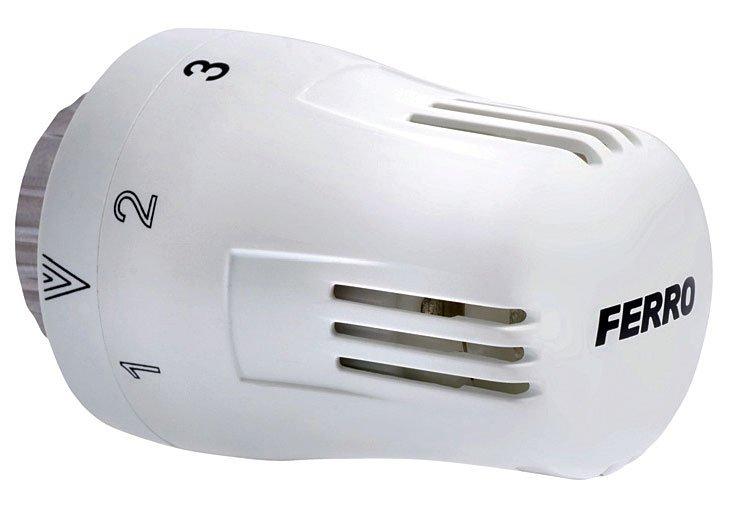 Fot. 4. Typowa głowica termostatyczna. Termostatyczne zawory grzejnikowe. Fot. FERRO