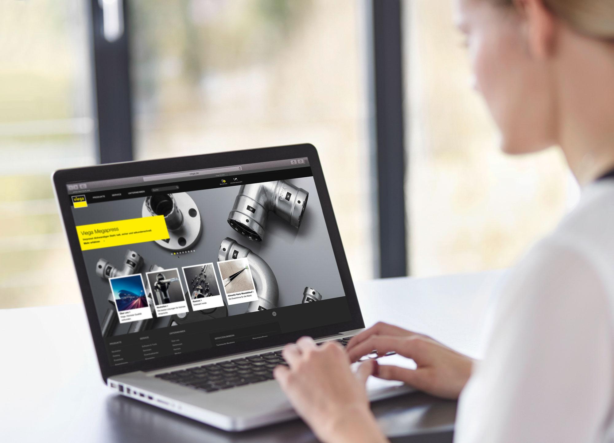 Atrakcyjne wizualnie grafiki, intuicyjne menu i szeroki zakres różnorodnych informacji – to główne zalety nowej strony firmy Viega.