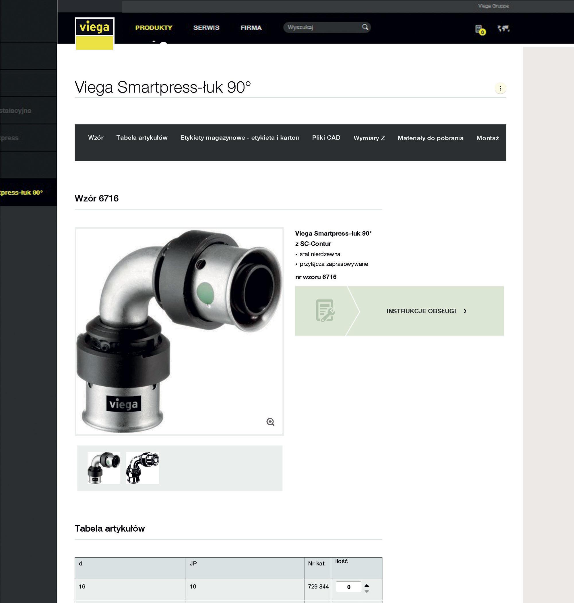 Strona zapewnia użytkownikowi całodobowy dostęp do katalogu produktów on-line, który jest codziennie aktualizowany.