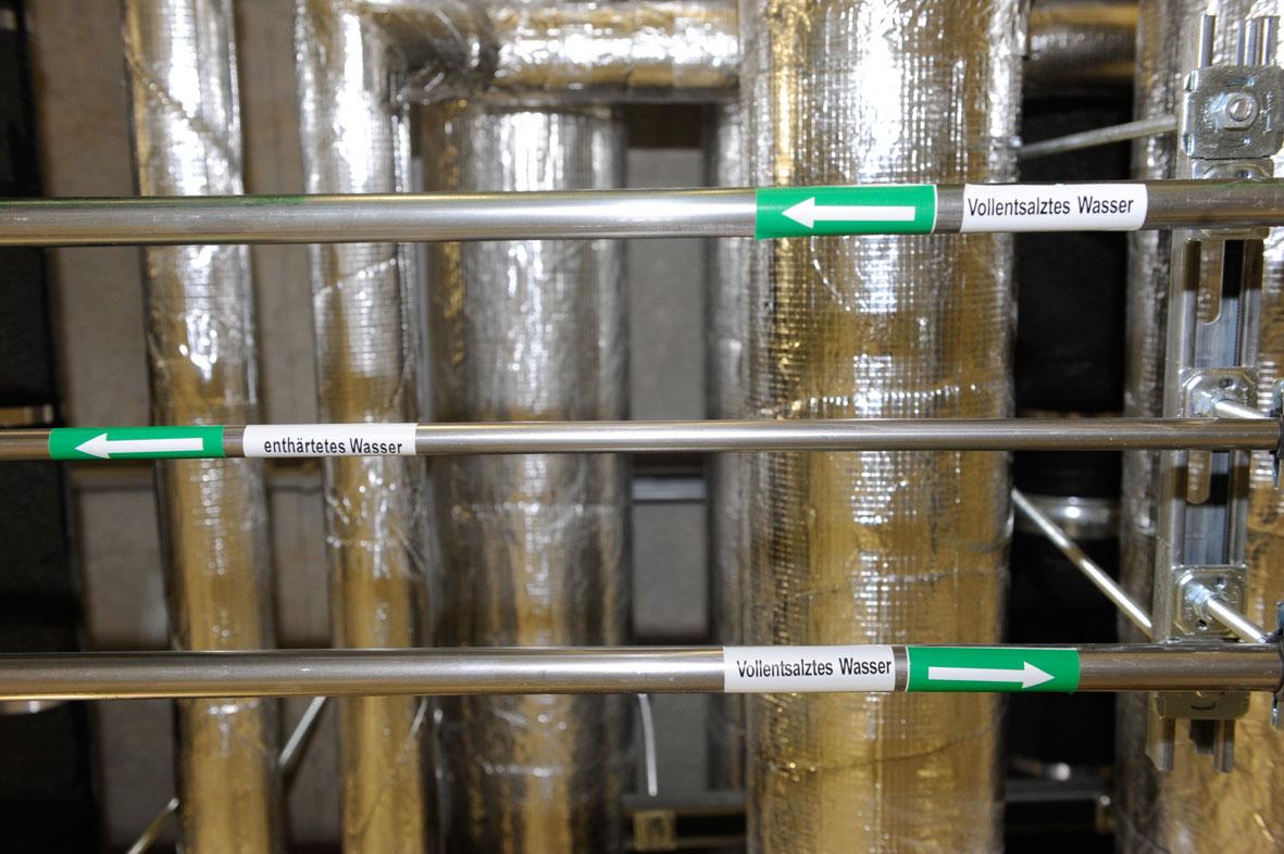 Instalacje chłodzenia są podłączone do systemu odsalania i zmiękczania wody przy pomocy rur i złączek ze stali nierdzewnej Sanpress Inox. (Zdjęcie: Viega)