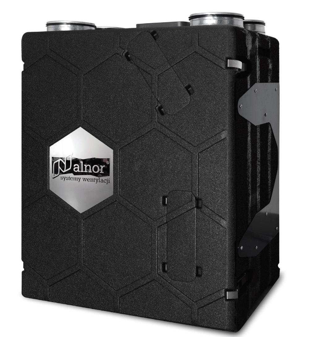 Fot. 1. Rekuperator HRU-PremAIR-500 w obudowie z materiału EPP zapewniającej odzysk ciepła ok. 95%. Fot. ALNOR