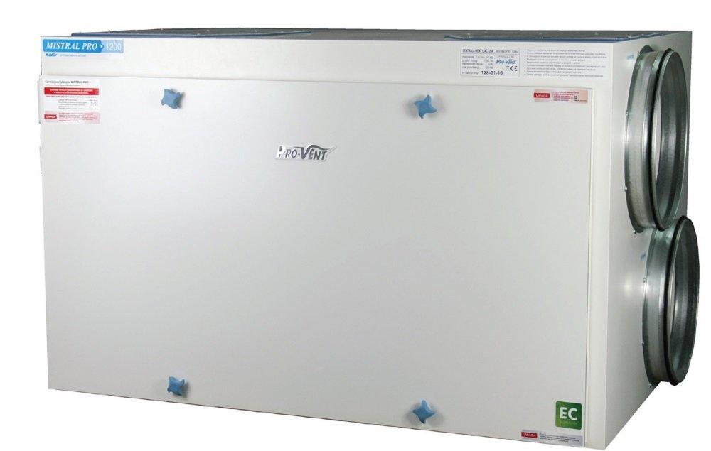 Fot. 2. Centrale wentylacyjne PRO 1200 wyposażona została w automatykę sterowaną z poziomu panela dotykowego. Fot. PRO-VENT