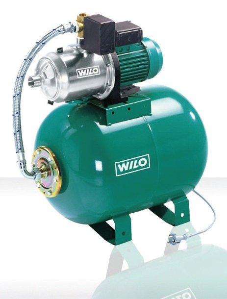 Fot. 1. Mały zestawy hydroforowy wyposażony w pompę WJ. Wykonany ze stali nierdzewnej, co zapobiega korozji, nawet w przypadku dłuższych przestojów. Fot. WILO
