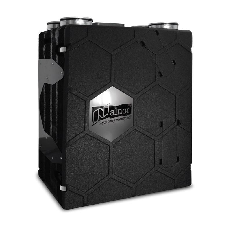 Rekuperator HRU-PremAIR-500 w obudowie z materiału EPP zapewniającej odzysk ciepła ok. 95% - sterowanie rekuperacją