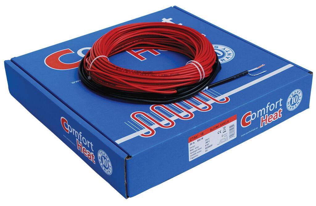 System kabli grzejnych Comfort Heat zapewnia przyjemne ciepło, utrzymuje temperaturę 22°C na całej powierzchni mieszkalnej i w ten sposób zmniejsza straty energii do 20%, w porównaniu z konwencjonalnymi rodzajami ogrzewania pomieszczeń - elektryczne systemy grzewcze Comfort Heat