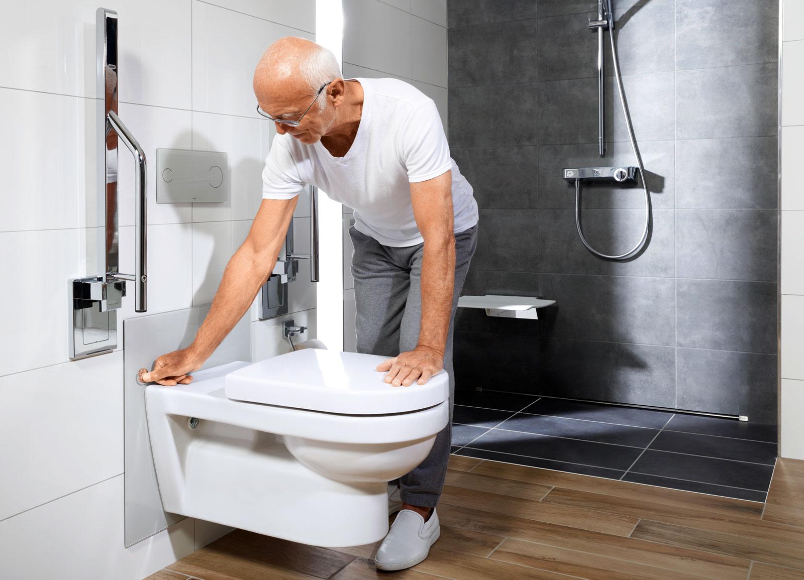 Łazienka dla seniora - rozwiązania sanitarne Viega przystosowane do wieku użytkowników