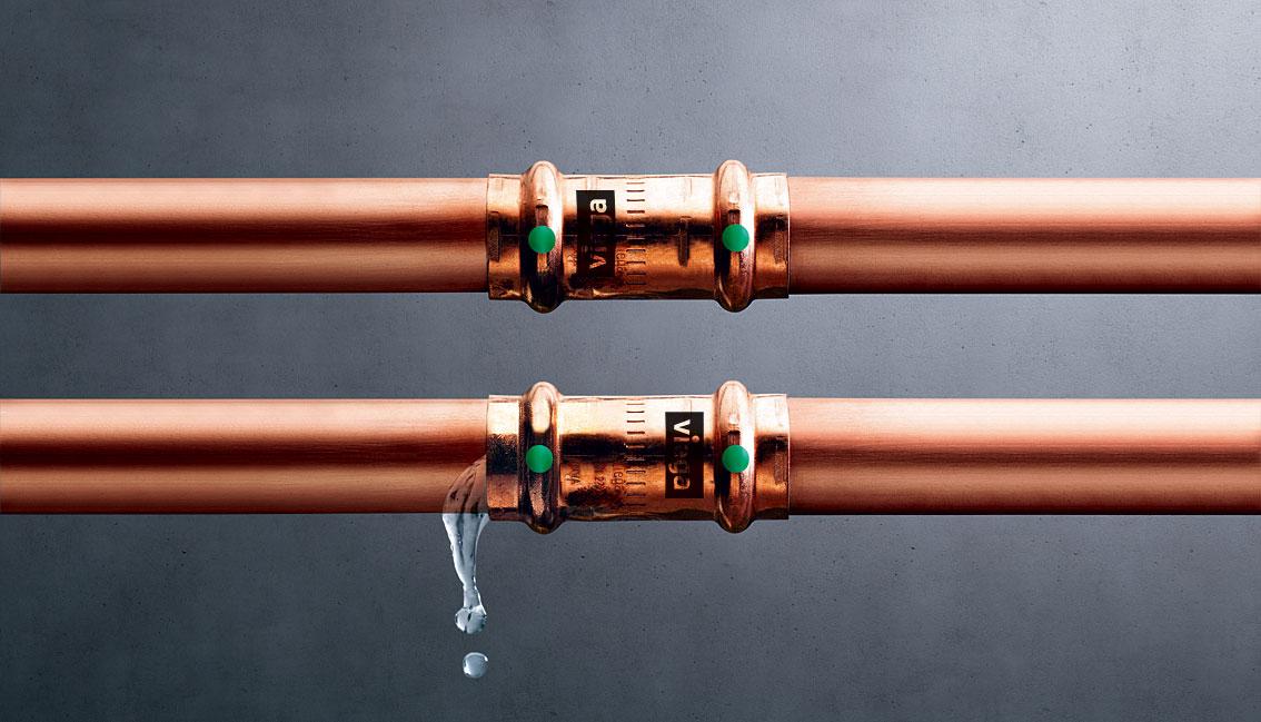 podwojne bezpieczenstwo polaczen zaprasowywanych viega kontur v2 - Podwójne bezpieczeństwo połączeń zaprasowywanych - Viega Kontur V