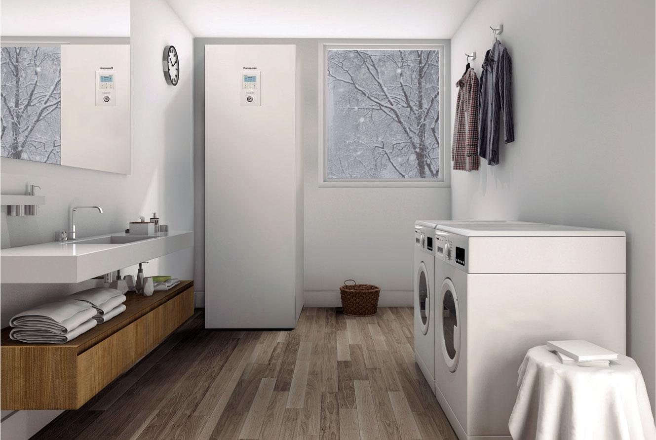 Fot. 3. Jednostka wewnętrzna Aquarea All-in-One jest zaprojektowana na wzór urządzeń AGD, dzięki czemu z powodzeniem można ją zainstalować w kuchni czy łazience.