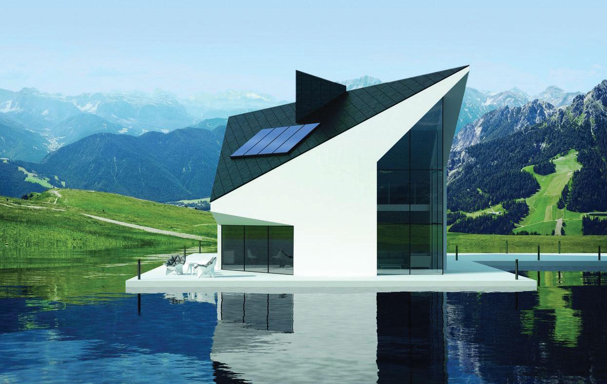 Fot. 4. Kolektory mogą stanowić element dekoracyjny nowoczesnej architektury. Fot. VIESSMANN