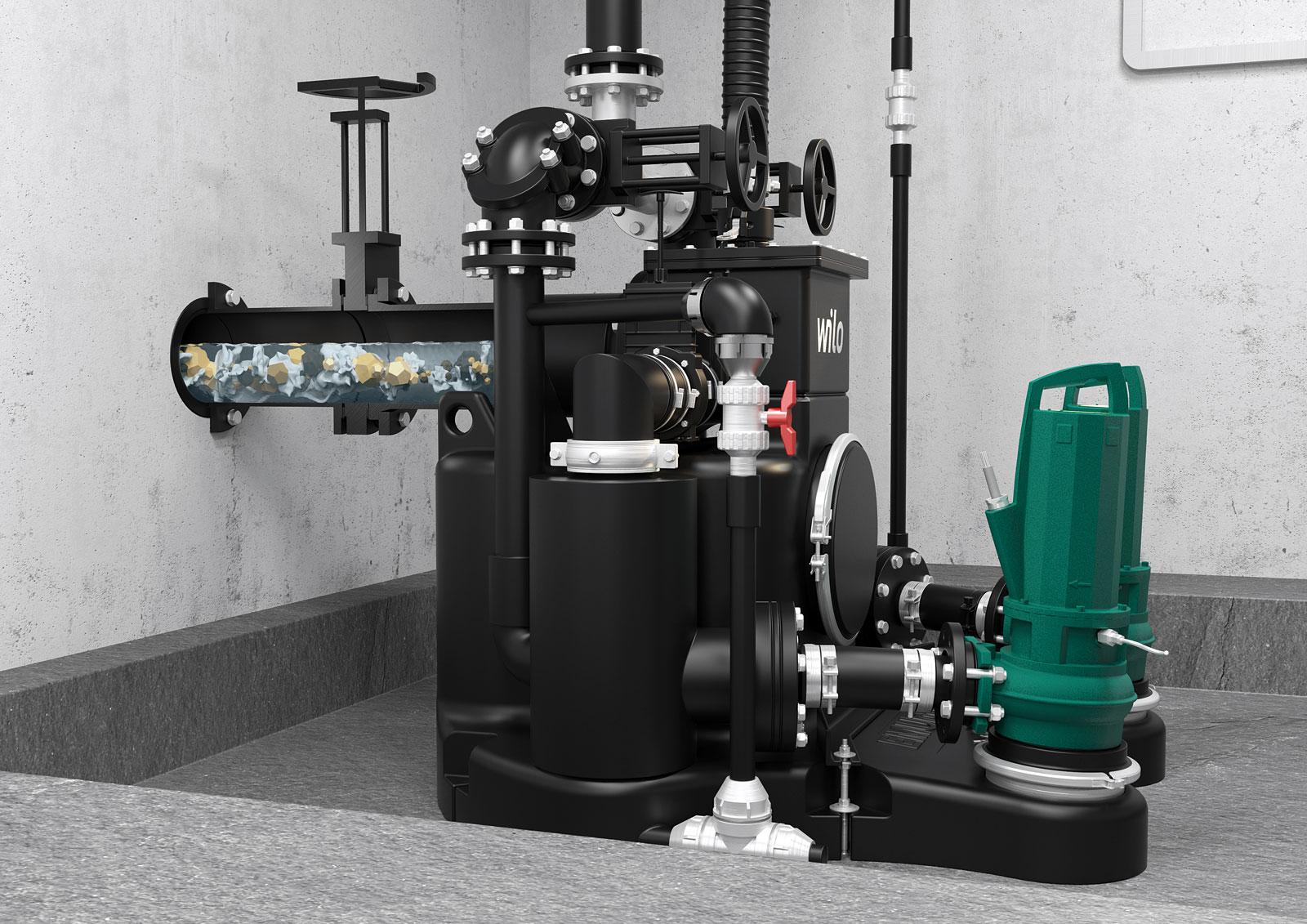 Kompaktowa budowa Wilo-EMUport CORE pozwala na montaż zarówno w budynkach jak i w studzienkach o średnicy ≥1500 mm