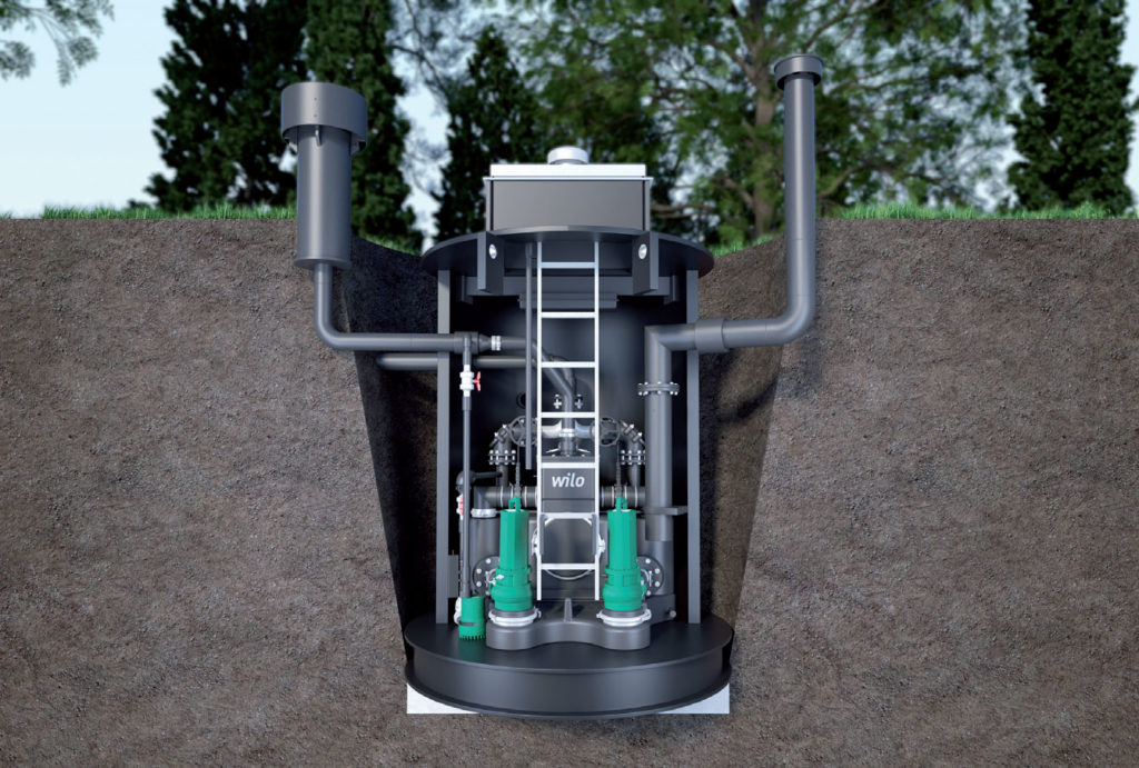 Fot. 3. Przepompownia ścieków z separacją części stałych Wilo EMUPort CORE przeznaczona jest do zastosowań zarówno w pomieszczeniach, jak i do montażu w studzienkach w systemach kanalizacyjnych. Fot. WILO