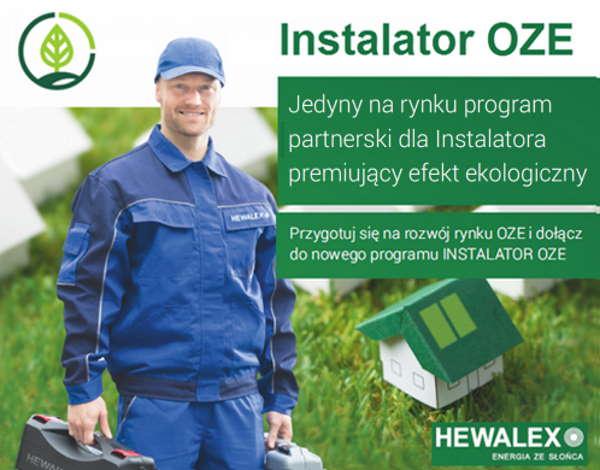 Instalator OZE – nowy program współpracy Instalatora z firmą Hewalex