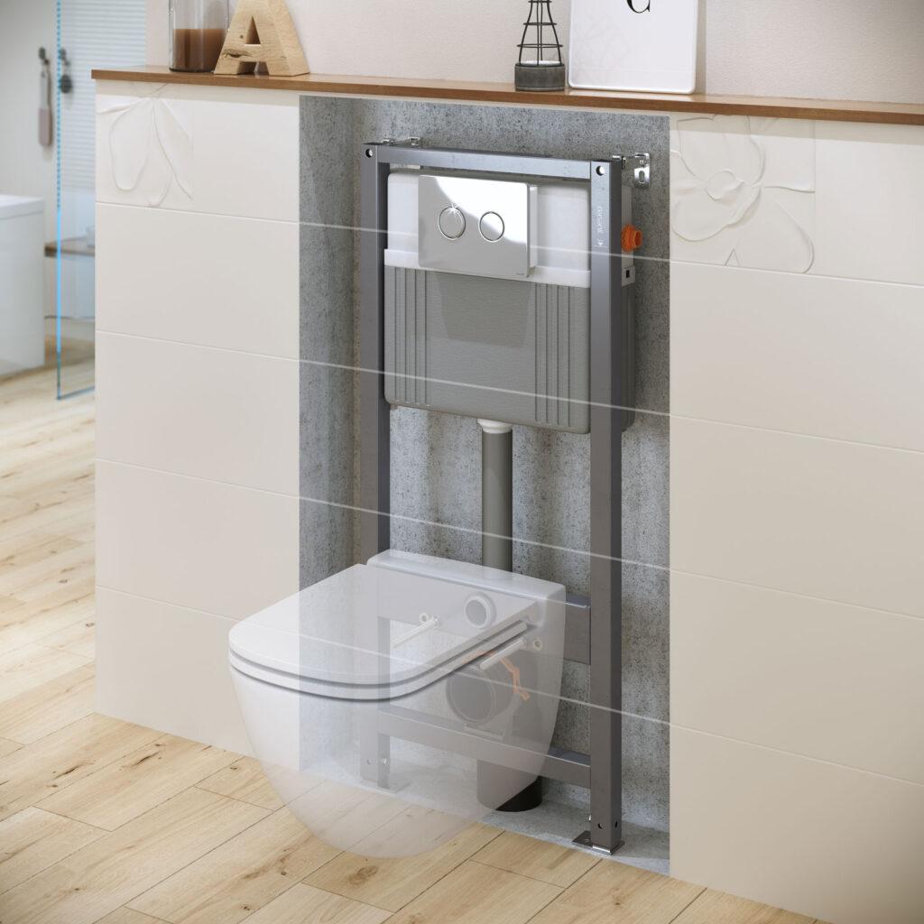 rozwiazania sanitarne w pomieszczeniach bez kanalizacji 2 1024x1024 - Stelaże podtynkowe z rozwiązaniami na miarę potrzeb