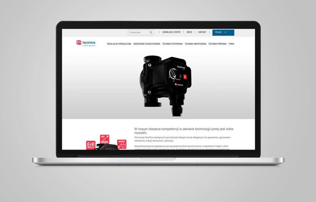 nowa strona internetowa firmy taconova 1024x655 - Nowa strona internetowa firmy Taconova.