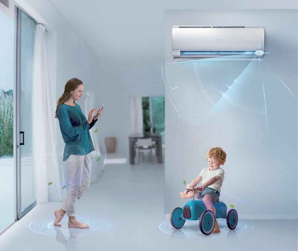 Fot. 3. Klimatyzatory wyposażone są w inteligentne funkcje, wpływające na komfort użytkowania, wysoką energooszczędność i przyjazne sterowanie. Fot. HAIER/REFSYSTEM