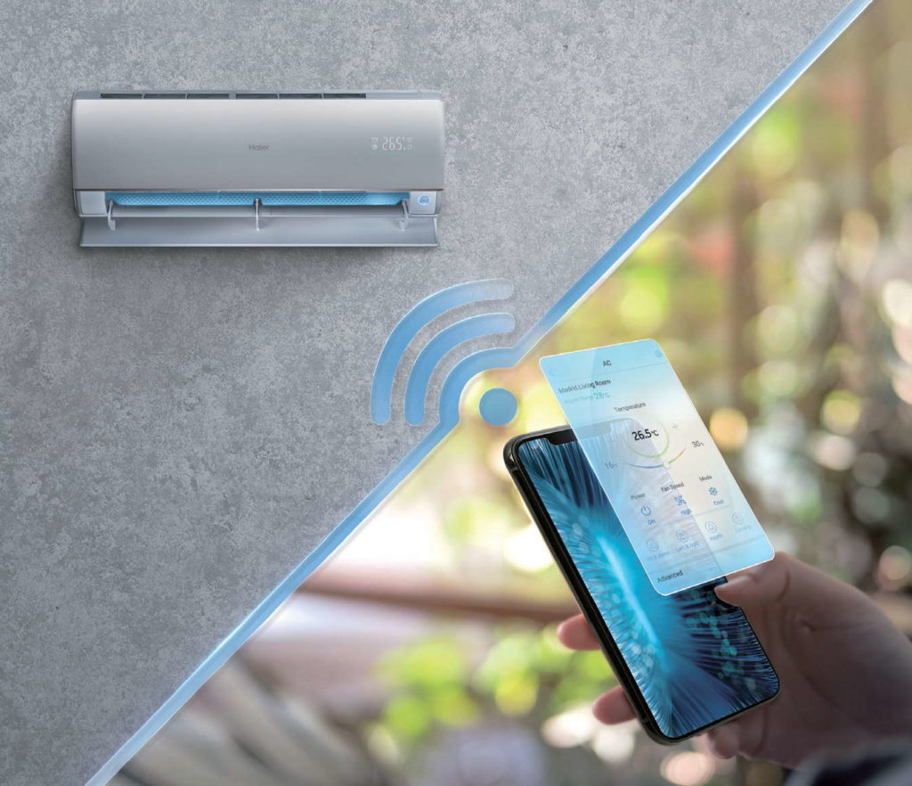 Fot. 6. Sterowanie WiFi umożliwia kontrolę pracy nad klimatyzatorem z poziomu smartfona lub tabletu.